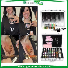 2015 getbetterlife paillettes temporaire de Shimmer body art tattoo ensemble/paillettes tatouage kit/shimmer tatouages