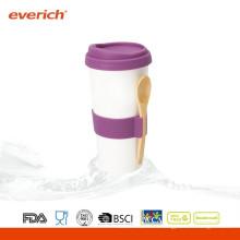 300ml Taza de café cerámica de nuevo producto con tapa