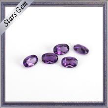 Piedras preciosas cerradas naturales púrpuras cristalinas