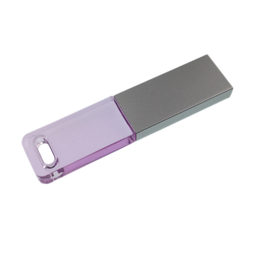 Mini unidade flash USB slim Crystal