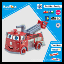 B/O bubbling pumper with light and music bubble toy fire truck
