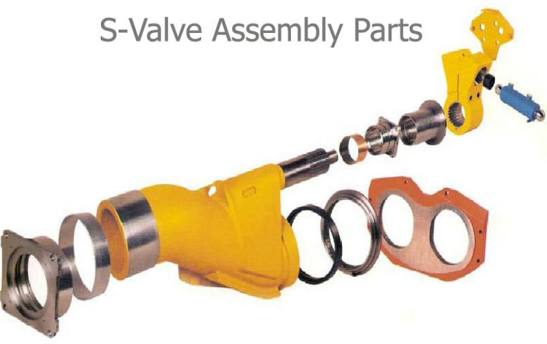 concrete pump s valve assembly