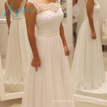 Pearls Sashes Chiffon Gorgeous Cheap Wedding Dress