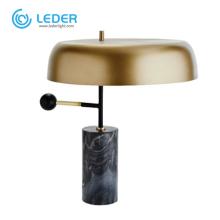 Lampes de table hautes latérales en métal LEDER