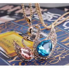 Classical Swan Charms Sweater Chain Pendants Necklace