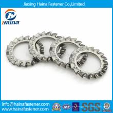 DIN6798 Arandela dentada externa de acero inoxidable GB862, arandela de seguridad dentada