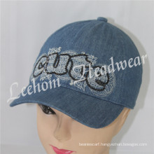 Fashion Kids Jeans Cap with Sequins