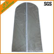 sac de vêtement de couverture de costume réutilisable de PEVA de promotion eco
