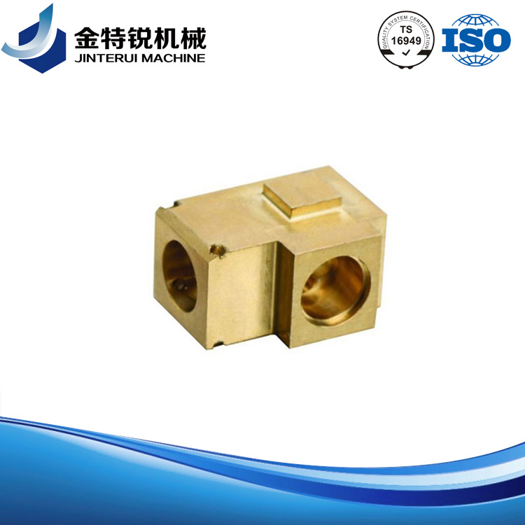 brass machined three way connector