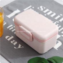 Doppelschichten Bambusfaser Bento Lunch Box