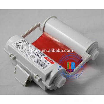 Compatible color printer ribbon white red blue 120mm*55m for Max CPM1-100HG3c PM-100 CPM-100hc label printer