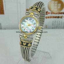 Relógios de pulso femininos Relógio de pulso de prata antigo para Lady Girl