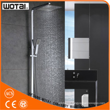 Single Lever Squre Chrome Finished Thermostatic Shower Faucet