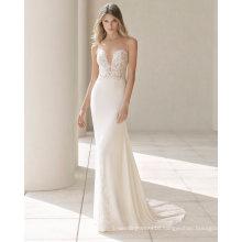 Lace and Chiffon Mermaid Bridal Gown Wedding Dress