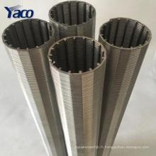 écran de puits d'acier inoxydable / filtre de mine / écran de fil de cale