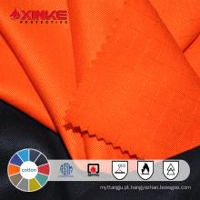 tecido retardante de fogo de algodão para vestuário
