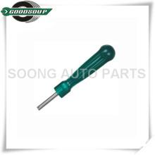 Herramienta de núcleo de válvula de neumático de mango verde, herramienta de extracción de núcleo de válvula