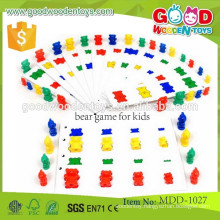 newest promotion wooden colorful pieces toys for children OEM wooden bear game for kids MDD-1027