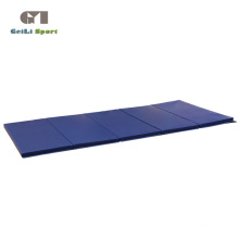 Складной толстый синий коврик для упражнений для спортзала