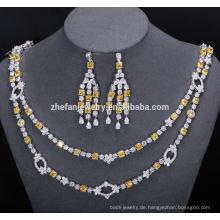 Braut Halskette und Ohrring Schmuck-Set unglaubliche glänzende Schmuck helfen, die Augen der Menschen zu fangen
