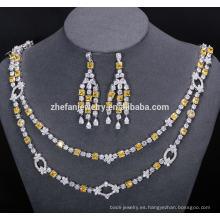 collar nupcial y joyería pendiente joyería increíble brillante ayudar a capturar los ojos de la gente