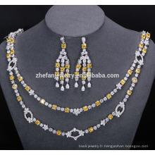 collier de mariée et boucles d'oreilles bijoux ensemble de bijoux brillants incroyables aider à attirer les yeux des gens