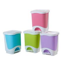Colorful Plastic Pedal Waste Bin (YW0083)
