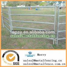 valla de tubo de metal de bajo costo para paddock de ganado panel de cerca de carriles usados