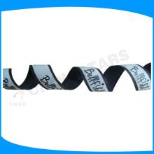 Bande de bande réfléchissante imprimée avec film de transfert de chaleur brillant dans la cordelette