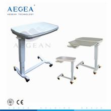 AG-OBT013 operado por mesa de cama de hospital ajustable por resorte de gas