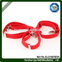 Canvas Belt Suspensers calças Straps Macarrão Vermelho