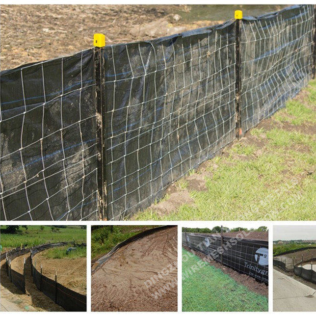 "4"" x 4"" wire backed silt fence"