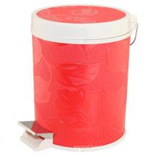 Fashion Design Plastic and Leatherette Dustbin