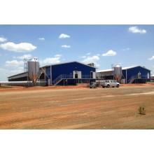 Maison légère de volaille de poulet de structure en acier préfabriquée (KXD-CH1503)