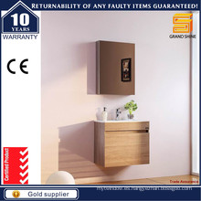 Gabinete de tocador de cuarto de baño de melamina MDF montado en la pared con certificado CE