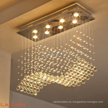 Guzhen decoración de la ciudad comedor colgante luz moderna iluminación de cristal 92014