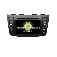 Quad core! Dvd del coche con espejo link / DVR / TPMS / OBD2 para la pantalla táctil de 7 pulgadas 4.4 core sistema Android Suzuki Swift