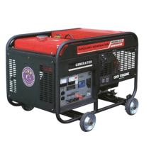 Refrigerado por aire 2,6 KVA gasolina generador 4 ruedas 100kg funcionado fácil Inicio