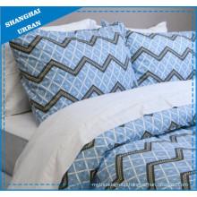 Blue Zig-Zag Pattern Printed Polyester Duvet Cover Bedding