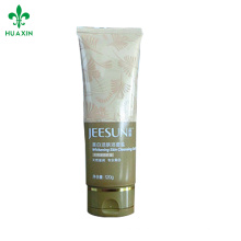 120g packaging cosmetic oval tube with flip top cap silkscreen printing