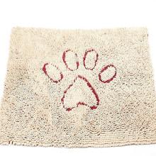 Estera de puerta del perro de Chenille de la microfibra, durable, secado rápido