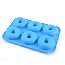 Amazon's hot 6-cavity Silicone donut baking pan Non-stick Doughnut silicone cake mold