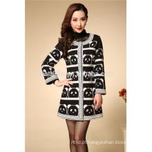 2016 Mulheres de vendas quentes inverno capa de casaco preto moda feminina elegante casaco de manga longa