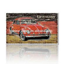 Pintura clásica de la lona del coche / impresión al por mayor del arte de la pared / cartel impreso vintage