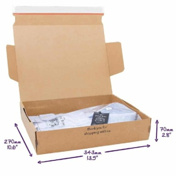 Corrugated Cardboard Gift Carton Box for Clothing Packaging