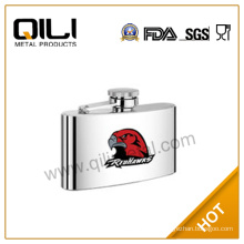 Stainless steel hip flask with heat-transfered picture 4OZ eagle names wine flask