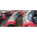 Encaixe de tubo de isolamento de espuma de poliuretano de jaqueta de aço