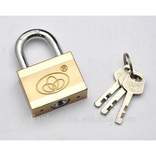2015 New decorative Solid Heavy Duty Square Type Double Color plated iron Padlock