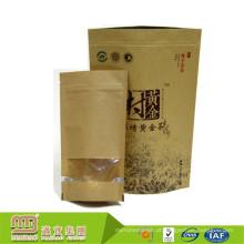 O costume imprimiu o produto comestível do selo da cura que empacota o saco de papel biodegradável do arroz do papel de embalagem