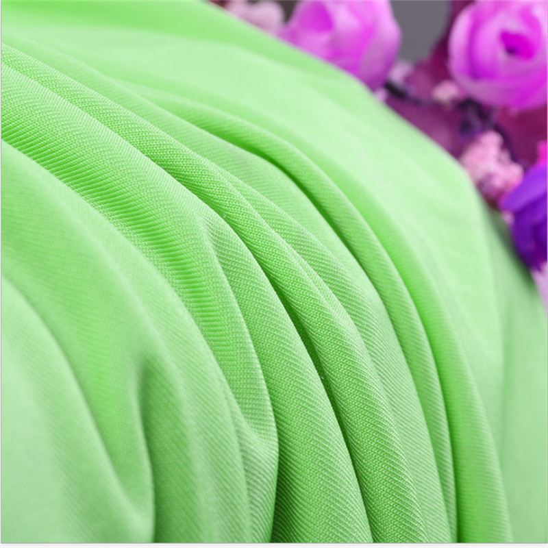 Practical Green Four Side Stretch Knitted Polyester Fabrics 2